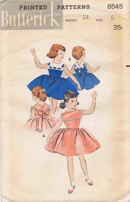 Butterick 1958 8545 F Size 6