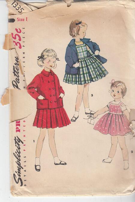 Vintage toddler dress pattern
