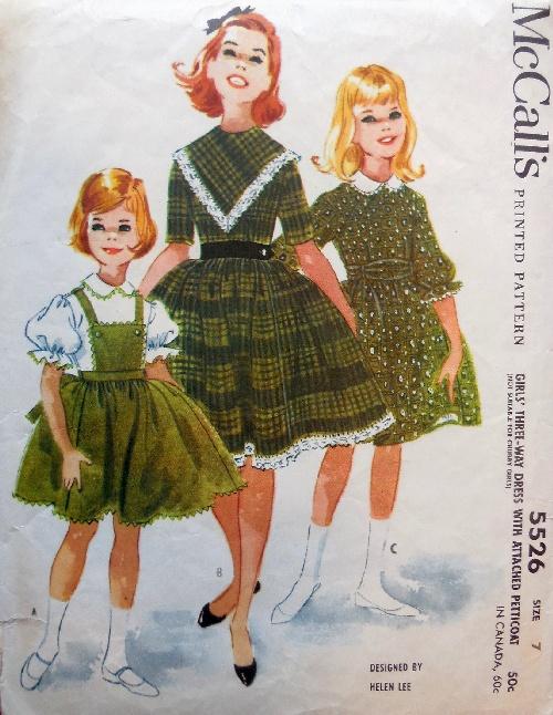 Mccalls girls dresses 5526 b small