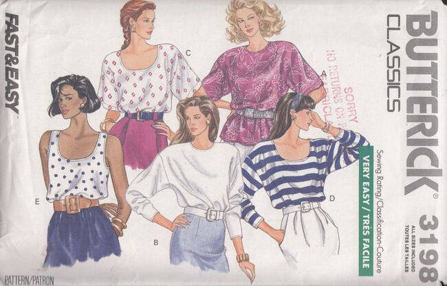 Vintage sewing patterns from penelope rose at Artfire 1980s loose pullover blouse