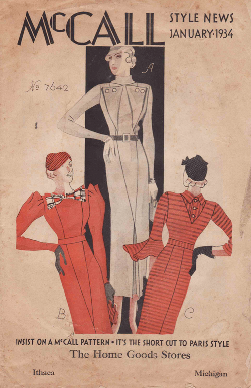 McCall Style News January 1934