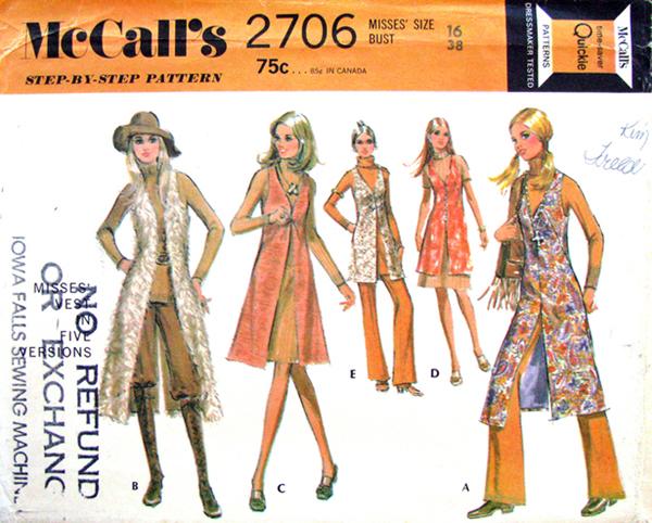 Mccalls 2706