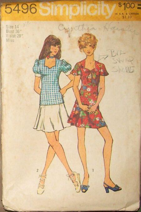 Simp5496 1973 tops skirts