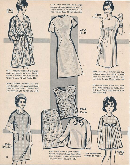 Mail Order Patterns 4833 4710 4805 9146 4949 9285