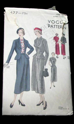 Vop-1410-01-vintage-vogue-6677-1940s-suit-pattern-skirt-blazer