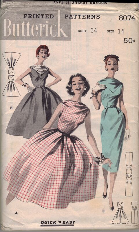 Butterick 8074 front