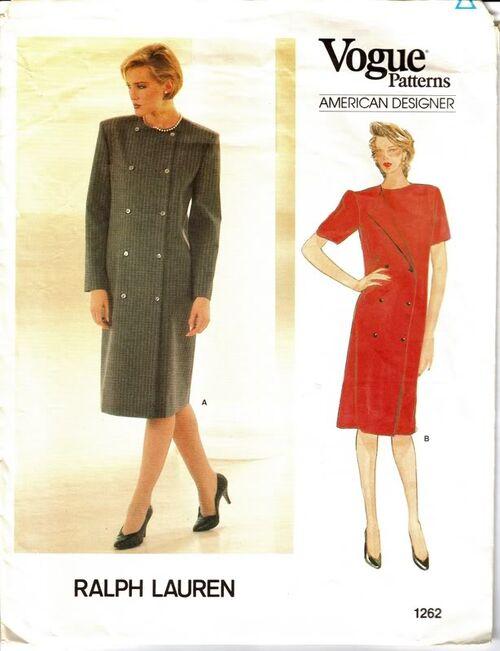 Vogue Pattern 1262 Vintage RALPH LAUREN Dress image