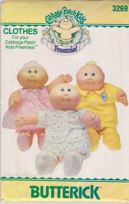 Butterick 3269 Cabbage Patch Premie Clothes