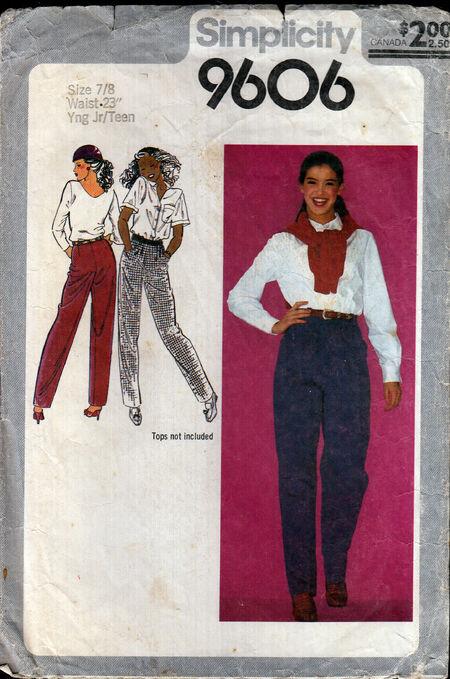 Penelope Rose vintage sewing pattern 1980s girls teen jeanson Artfire