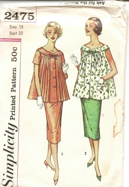 Simplicity Maternity Pattern 2475 image1