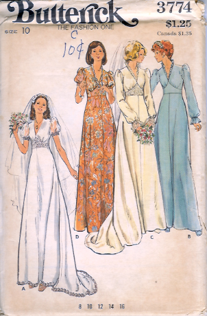 1970's Butterick Pattern 3774