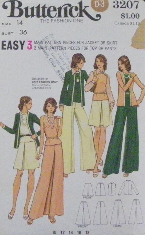 Butterick 3207 (1970s)