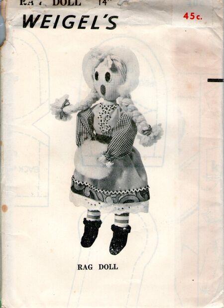 Weigels children rag doll