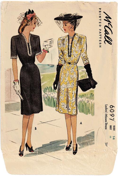 1945 mccall dress