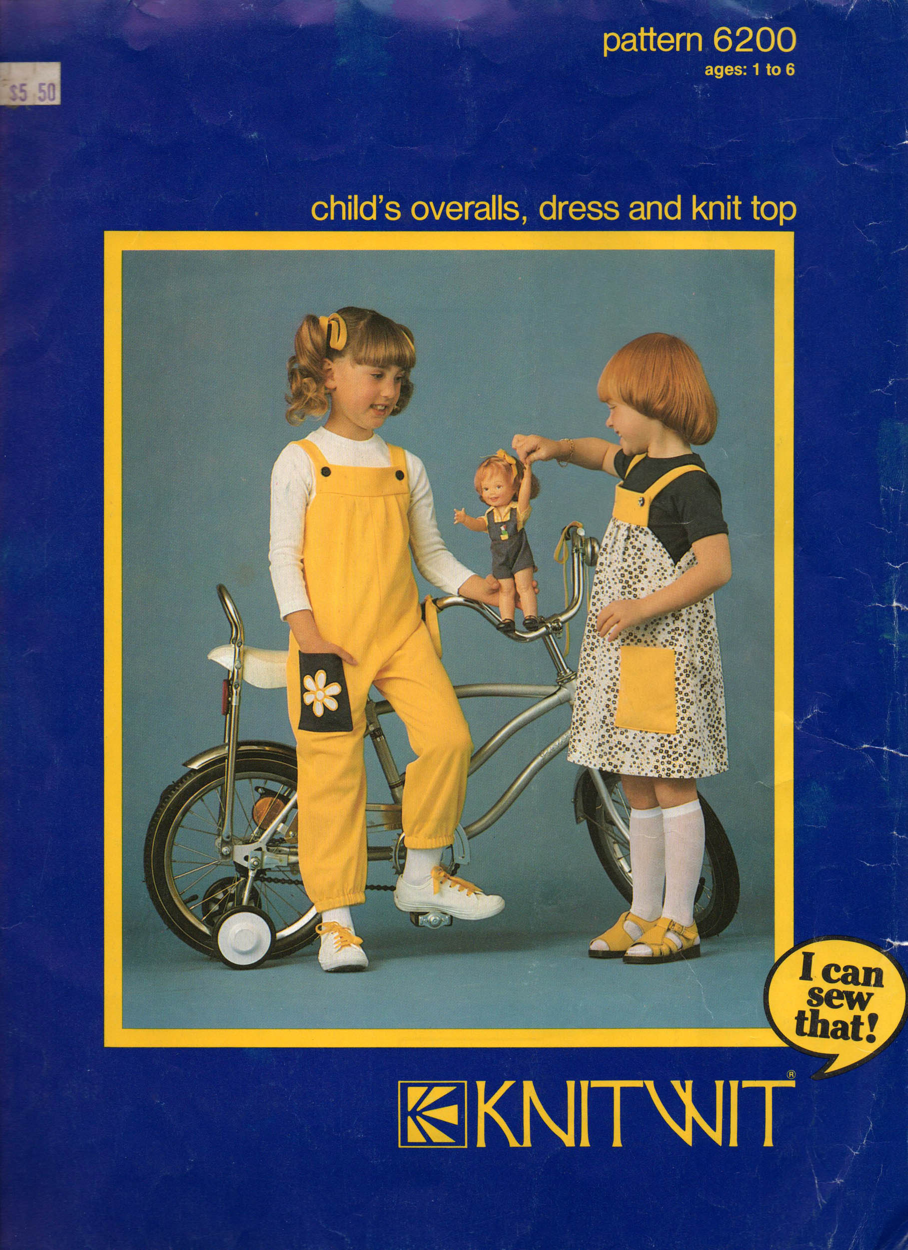 Knitwit 6200 vintage sewing patterns fandom powered by wikia knitwit 6200 1981 childs overalls dress and knit top knit top is sized for stretch fabrics bankloansurffo Images