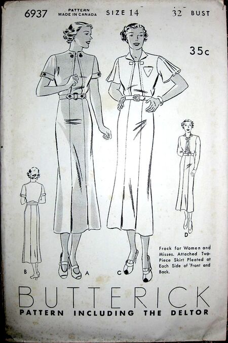 Butterick 6937 front