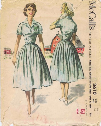 McCalls 1956 3610