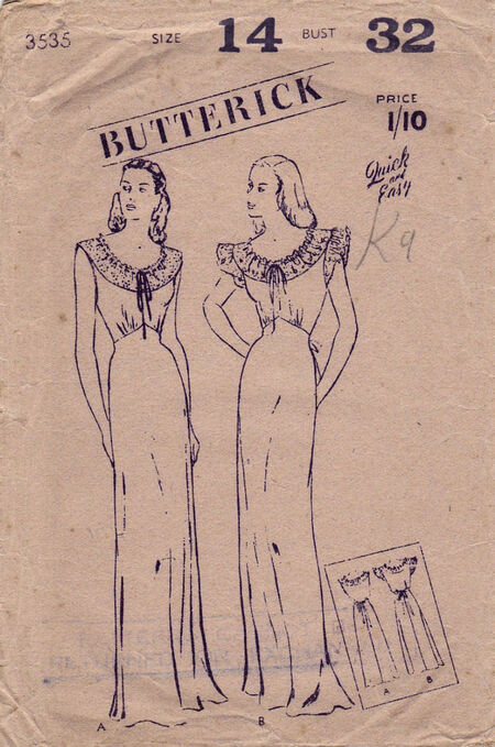 Pattern - Butterick 3535