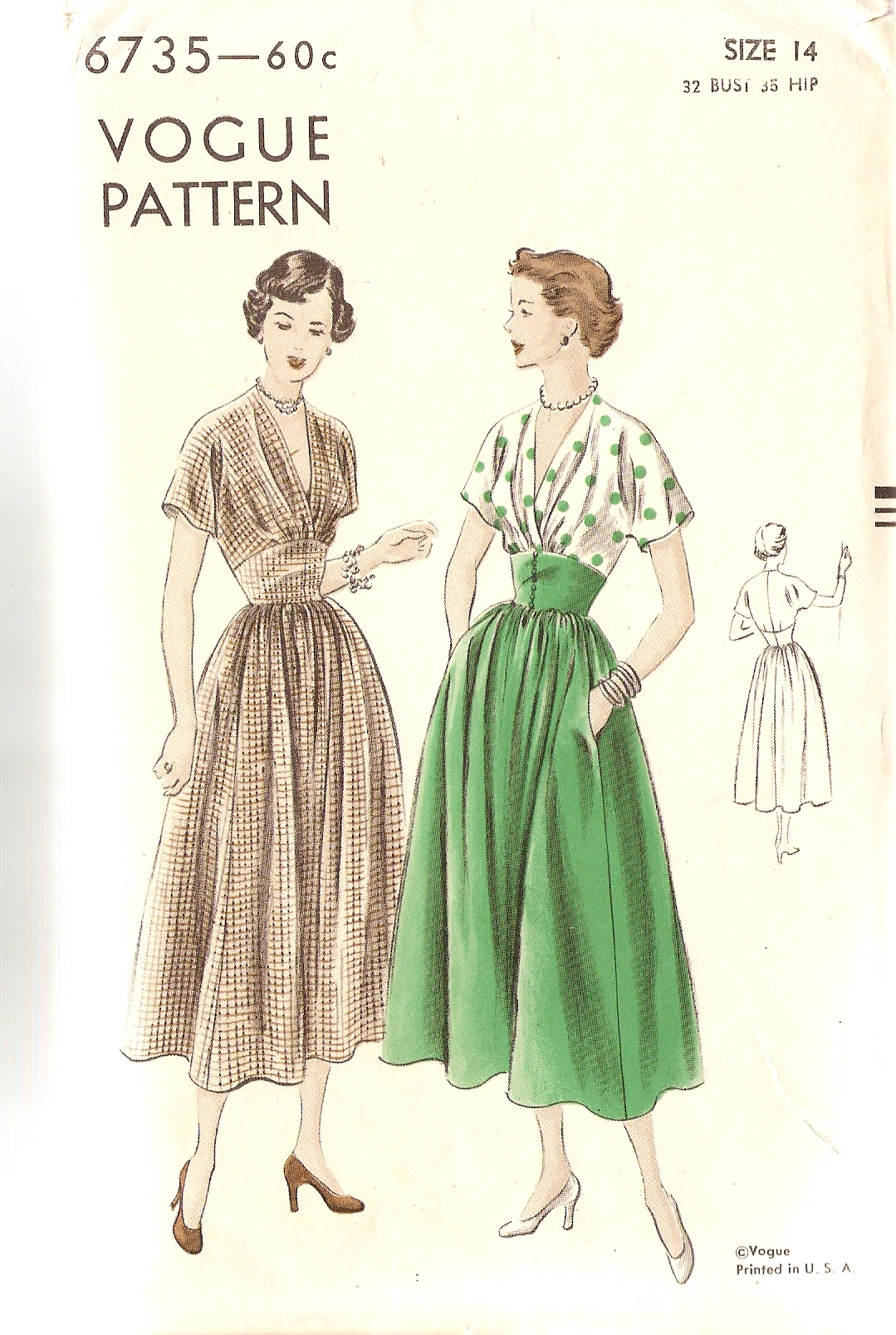 Vogue 6735 | Vintage Sewing Patterns | FANDOM powered by Wikia