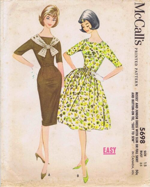 McCalls 1960 5698