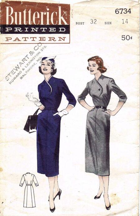 Butterick 1954 6734