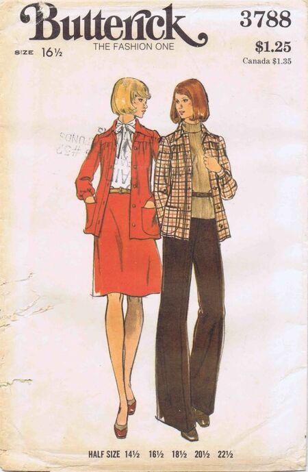 Butterick 1974 3788