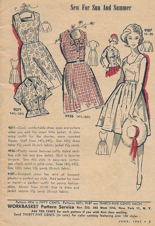 Mail Order 9071 4936 9187 Dress Pattern