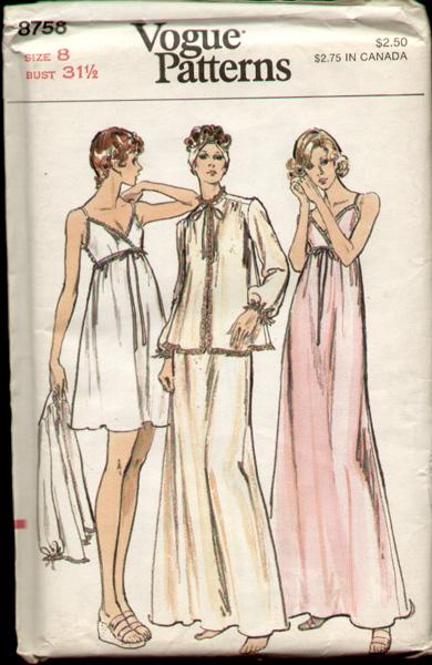 Vogue 8758 70's a