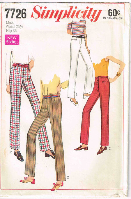 C1968 7726 Simplicity Pants