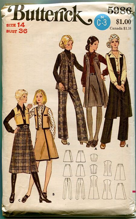 Butterick 5986 at Design Rewind Fashions on Etsy a