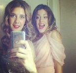 Clari and Tini selfie