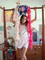 Young Tini in her room