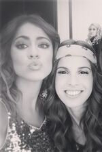 Cande, Tini and Mercedes in the back