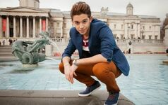 Ruggero at a fountain