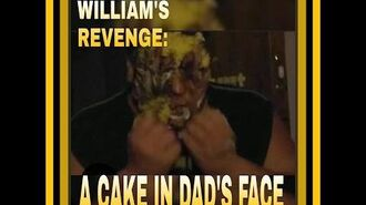WILLIAM SLAMS CAKE IN DADS FACE