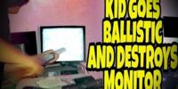KID GOES BALLISTIC OVER FAULTY MONITOR!!!