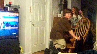 William spanking himself