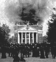 University of Virginia Rotunda fire small