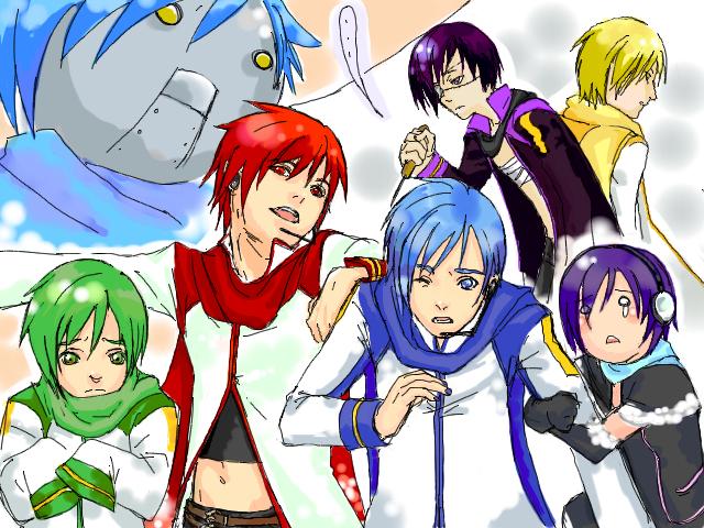 Image - Kaito derivatives.jpg   Vocaloid Wiki   FANDOM ... Vocaloid Kaito Wiki