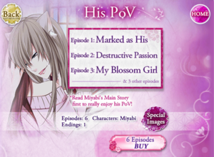 His POV - Main Story - Miyabi - Profile