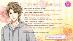 An Interview with Shusei - Part 2