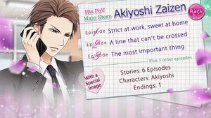 His PoV - Main Story - Akiyoshi Zaizen - Profile