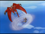 Ep.37.72 - Mu Reggar uses wing attack against Green lion