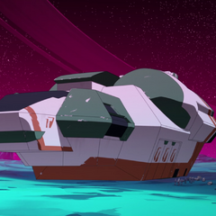 Rolo and Nyma's ship.
