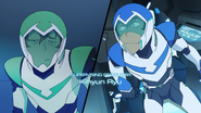 S2E10.8. Pidge looks doubtful about Lance being a good shot heh