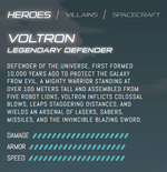 Official stats - Voltron
