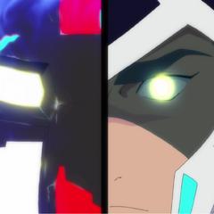 Shiro sees through his Lion's eyes.