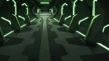 S2E10.89. Beta Traz hallway in green