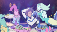 Lance gets mermaids laugh