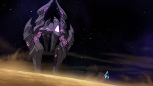 S2E05.242. Zarkon's ship vs Voltron